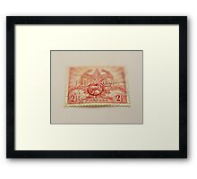 1945 Australia Peace Stamp  Framed Print
