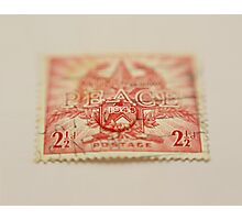 1945 Australia Peace Stamp  Photographic Print
