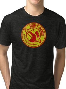 Galactic Hitchhikers Red and Gold Tri-blend T-Shirt