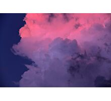 Way Up High, With Pretty Pink Clouds In The Sky  Photographic Print