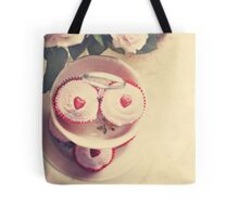 Cupcakes and Hearts Tote Bag