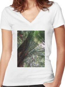 A Canopy of Green Women's Fitted V-Neck T-Shirt