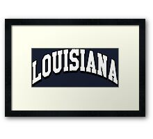 Louisiana Classic LA Framed Print