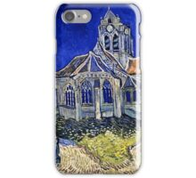 Vincent Van Gogh -  Church In Auvers Sur Oise, View From  Chevet 1890  iPhone Case/Skin