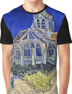 Vincent Van Gogh -  Church In Auvers Sur Oise, View From  Chevet 1890  Graphic T-Shirt