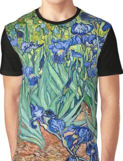 Vincent Van Gogh - Irises, 1889  Graphic T-Shirt