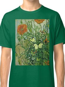 Vincent Van Gogh - Butterflies And Poppies, April 1890 - May 1890  Classic T-Shirt