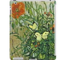 Vincent Van Gogh - Butterflies And Poppies, April 1890 - May 1890  iPad Case/Skin