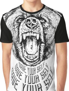 Save Your Self - Bear Graphic T-Shirt