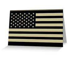 AMERICAN, ARMY, reverse side flag, Soldier, American Military, Arm Flag, US Military, IR, Infrared, USA, Flag, on BLACK Greeting Card