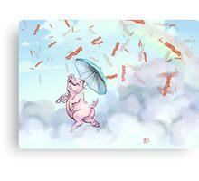 Bacon Shower Canvas Print