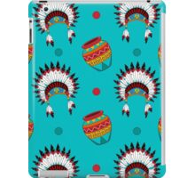 Native American pattern on turquoise iPad Case/Skin
