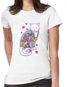 Mob Cat  Womens Fitted T-Shirt