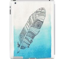 blue watercolor feather  iPad Case/Skin