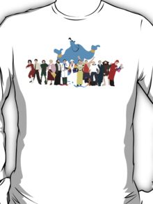 NO BACKGROUND Even More Minimalist Robin Williams Character Tribute T-Shirt