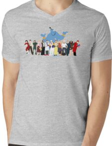NO BACKGROUND Even More Minimalist Robin Williams Character Tribute Mens V-Neck T-Shirt
