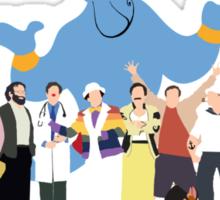 NO BACKGROUND Even More Minimalist Robin Williams Character Tribute Sticker