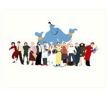 NO BACKGROUND Even More Minimalist Robin Williams Character Tribute Art Print
