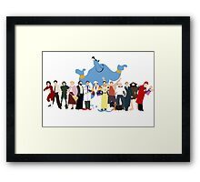 NO BACKGROUND Even More Minimalist Robin Williams Character Tribute Framed Print