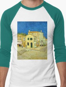 Vincent Van Gogh -  Yellow House, ` Street, September 1888 - 1888  Men's Baseball ¾ T-Shirt