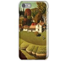 Grant Wood - Birthplace Of Herbert Hoover  iPhone Case/Skin