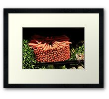 Carrots ~ Go Round and Round Framed Print