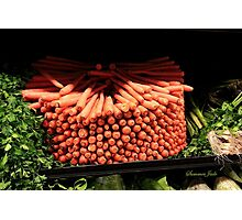 Carrots ~ Go Round and Round Photographic Print