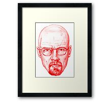 Breaking Bad (Walter White) sketch red edition Framed Print