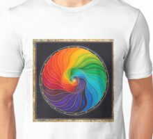 Galactic Rainbow Nautilus -w/ Swarovski Crystals  Unisex T-Shirt