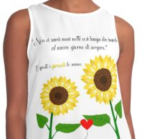 Double Sunflower Design by Mommotti Contrast Tank