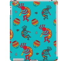 Kokopelli pattern on turquoise iPad Case/Skin