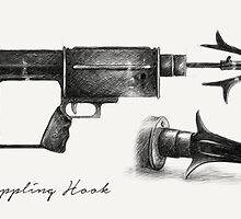 Grappling Hook Schematics  by studioofmm