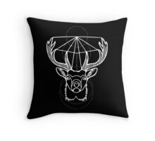 Stag in White Throw Pillow