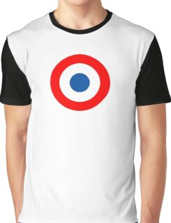 Roundel, Tricolore, cockade, French, Air Force, Bullseye, combat, aircraft, First World War Graphic T-Shirt