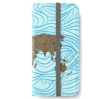 Decorative world map iPhone Wallet/Case/Skin