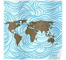 Decorative world map Poster