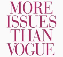 More Issues than Vogue Magenta Pink Typography Kids Clothes