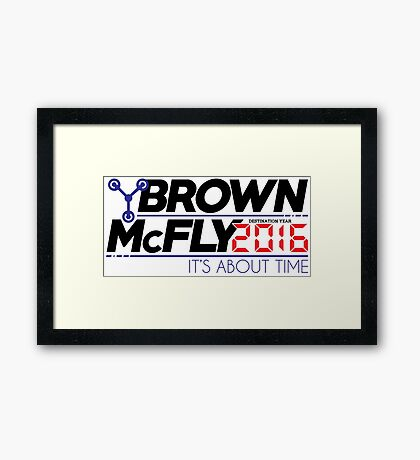 Brown McFly 2016 Framed Print