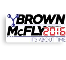 Brown McFly 2016 Canvas Print