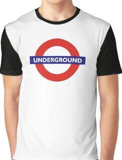 UNDERGROUND, TUBE, LONDON, GB, ENGLAND, BRITISH, BRITAIN, UK Graphic T-Shirt
