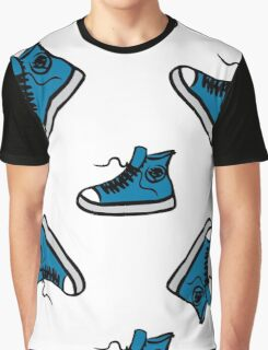 Sneakers seamless pattern, hand drawing Graphic T-Shirt
