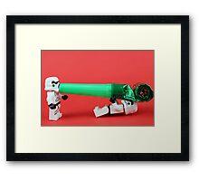Lego Storm trooper birthday surprise Framed Print