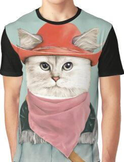 Rodeo Cat Graphic T-Shirt