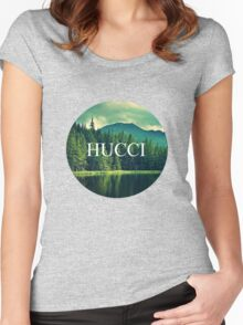 Hucci forest vibes Women's Fitted Scoop T-Shirt