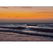 Small Boat at Sea Jericoacoara Brazil Photographic Print