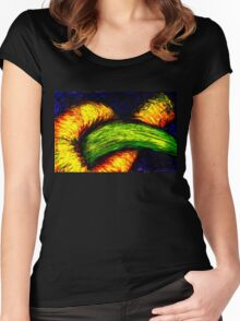 fruit worm Women's Fitted Scoop T-Shirt