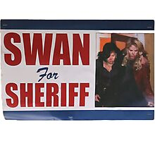 Swan For Sheriff Photographic Print