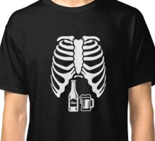 Halloween Skeleton Beer Belly Xray Funny Classic T-Shirt