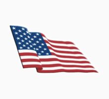 Stars & Stripes, Fly the flag, American Flag, FLUTTER, America, us, USA One Piece - Short Sleeve