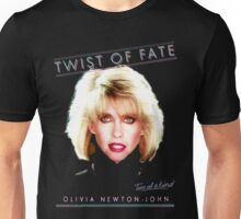 OLIVIA NEWTON-JOHN - TWIST OF FATE - 80s Unisex T-Shirt